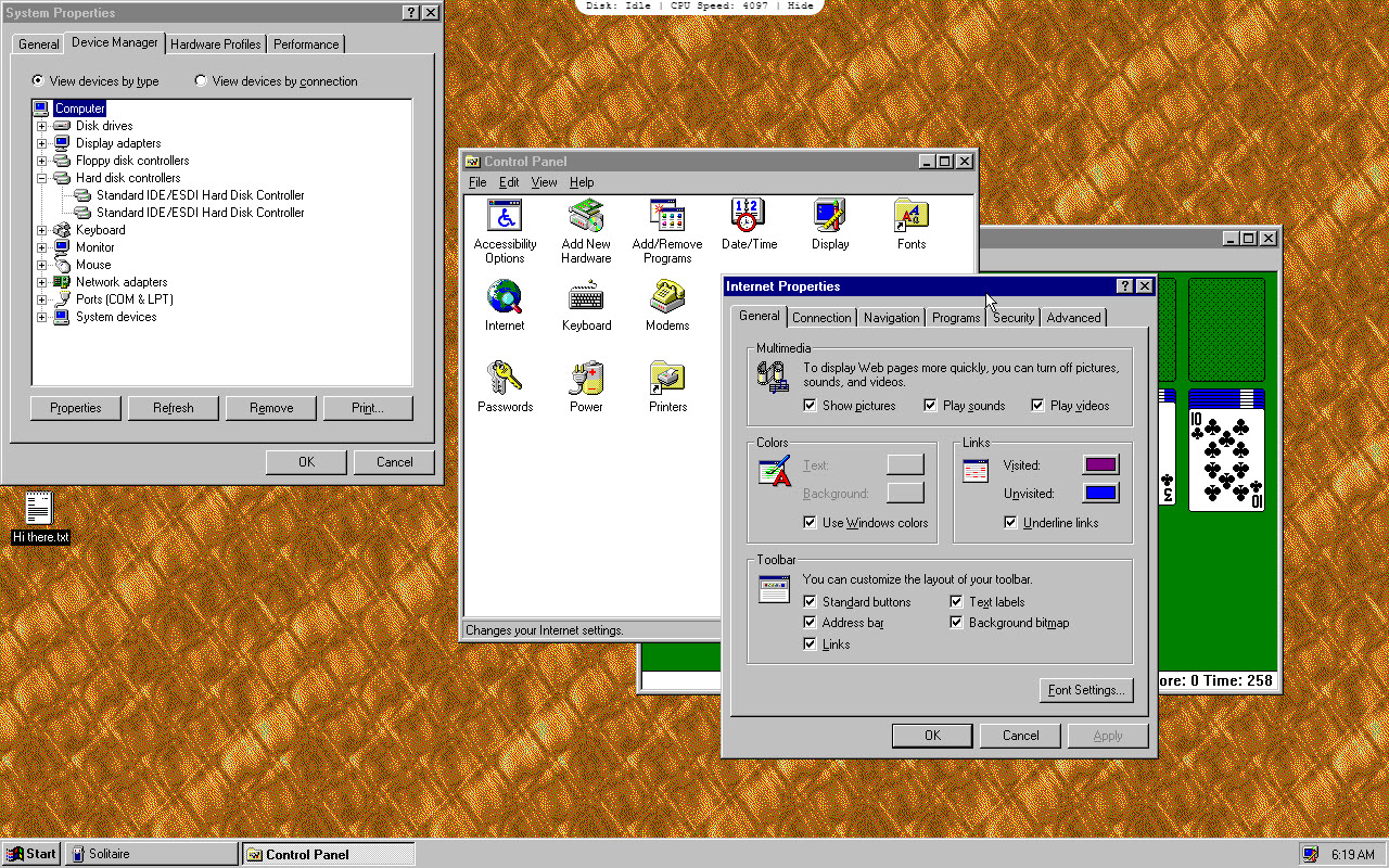 The Windows 95 App Can Run Programs Like WordPad MS Paint Minesweeper While It Has Some Problems Cursor Alignment Issues Just Runs Fine And