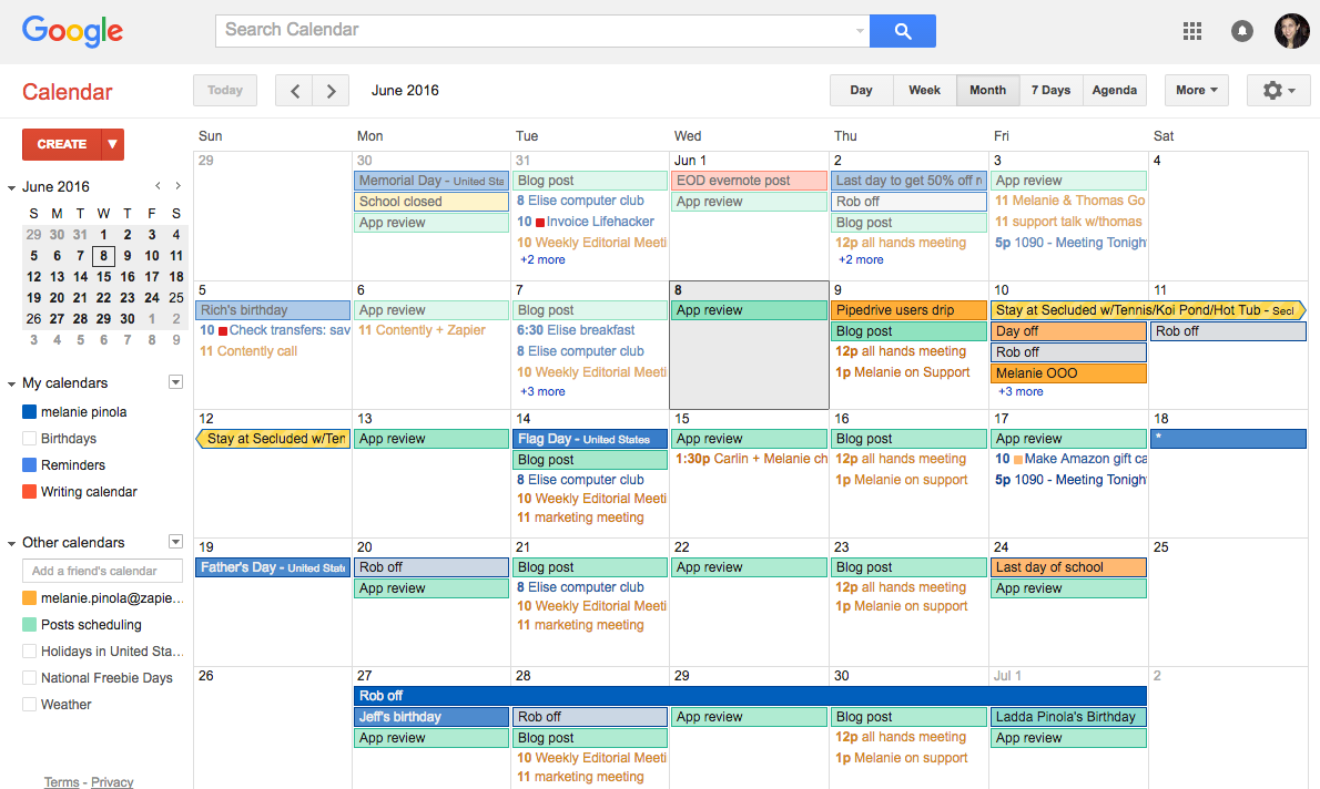 Google Calendar Keyboard Shortcuts ‒ Defkey
