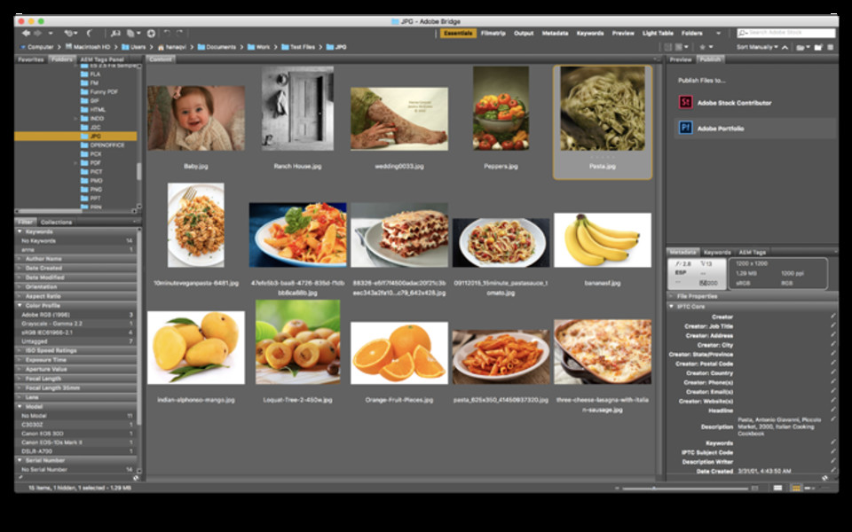 Adobe Bridge CC (Mac)