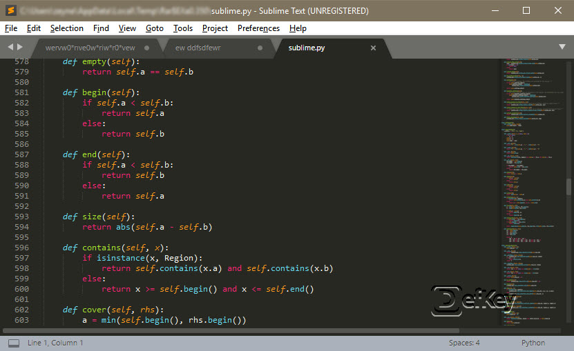 sublime text 2 keyboard navigation