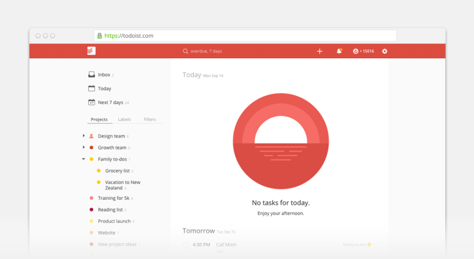Todoist keyboard shortcuts ‒ defkey