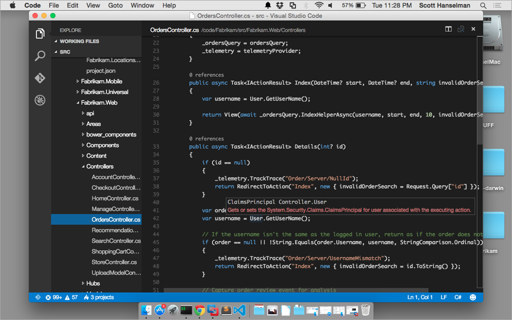 Visual Studio Code (Mac)