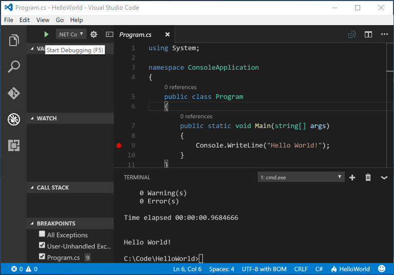 Visual Studio Code (Windows)